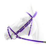 Racing Bridle with Rubber Reins