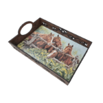 Serving Tray, Horse Print