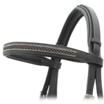 Fancy Bridle with Raised & Stitched Noseband