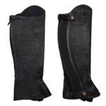 Gaiters, Leather with Curve Zip