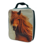 Lunch Cooler with Horse Print