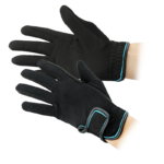 Gloves, Amara with Black & Turquoise Piping